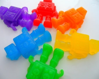 25 ROBOT SOAPS FAVORS -  Robot Party Favor, Robot Birthday Party, Robot Baby Shower, Out of the World, Alien, Rocket, Spaceship