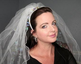 ANIME BRIDE Butterflies Bridal Veil Headdress