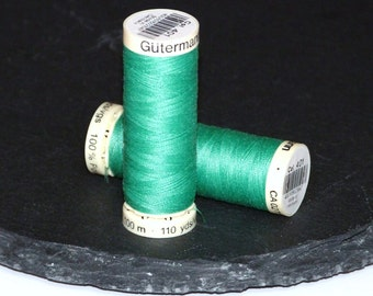 1 Reel Gutermann Sewall Thread  Green - 401- Polyester 110 yards 100m
