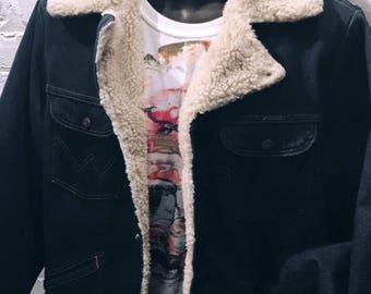 Wrangler Vintage Work Jacket Mono Printed