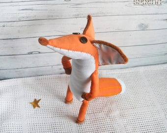 Mr. Fox - Сorduroy Mr. Fox - The Little Prince FOX - Fox plush - The little fox - Toys- little prince fox