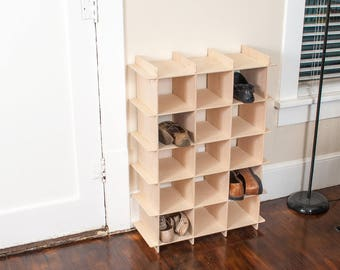Modern Wooden Shoe Storage Cubby