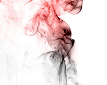 """Fallen. Smoke photography. Hand-numbered/limited edition photograph PRINT on premium glossy paper. 11""""x17"""""""