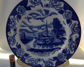 Unmarked Blue and White Delft plate
