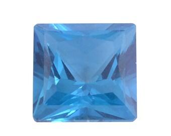Kashmir Blue Topaz Loose Gemstone Square Cut 1A Quality 8mm TGW 2.80 cts.