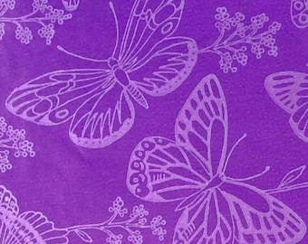Wrapping Paper, Butterfly Gift Wrap, *2 sheets, Vintage, Birthday Gift Wrap, Wedding Gift Wrap, Purple Gift Wrap, Purple, Silver, Butterflie