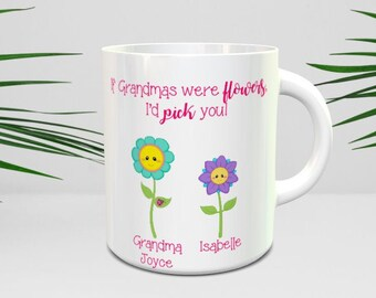 Easter gift grandma etsy if grandmas were flowers id pick you mug gift for grandma negle Images