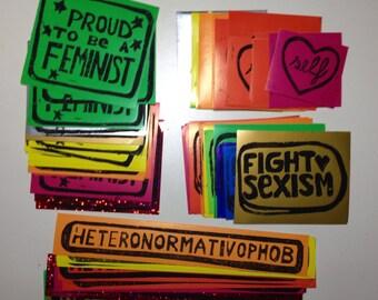 Sticker - Heteronormativophob, Proud Feminist,...