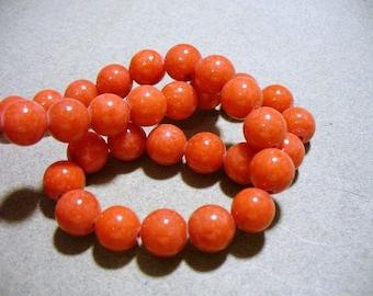 Jade Beads Gemstone Red  Round 10MM