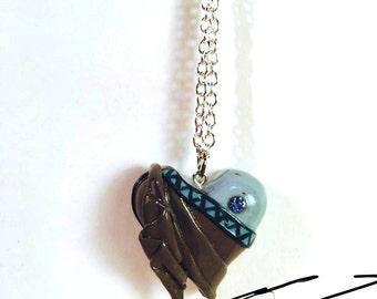 Disney Birthstone Heart Necklaces: March Hades