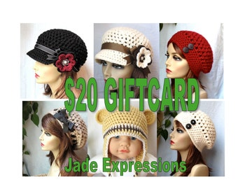 Gift card, Mother's Day, Birthdays, Christmas gifts, , Holiday Giftcards, JadeExpressions Gift Cards, 20 Dollars,  JEGIFT20