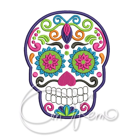 Machine Embroidery File Sugar Skull Embroidery Dia De Los Muertos