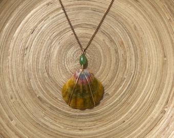 Sunrise Shell Necklace (Gold)