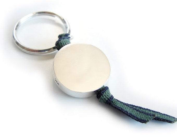 Llavero Personalizado Plata/BORN/Cordón