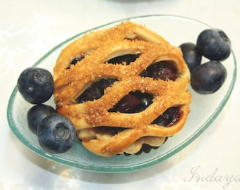 "Mini Pie, Mini Fruit Pies, Fresh Blueberry Pie - 1 dozen of 3"" mini pies"