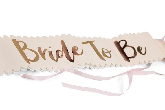 Bride To Be Sash, Bachelorette Party Sash, Bridal Shower Sash, Bridal Decor, Wedding Sash, Pink Bridal Sash Pink Bachelorette Sash Rose Gold