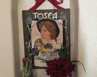 Commemorative Tosca opera painting