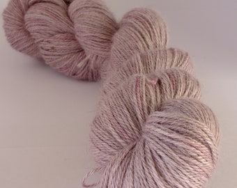Hand dyed yarn, alpaca, silk and cashmere, naturally dyed, purple, logwood, WASCH/P/2