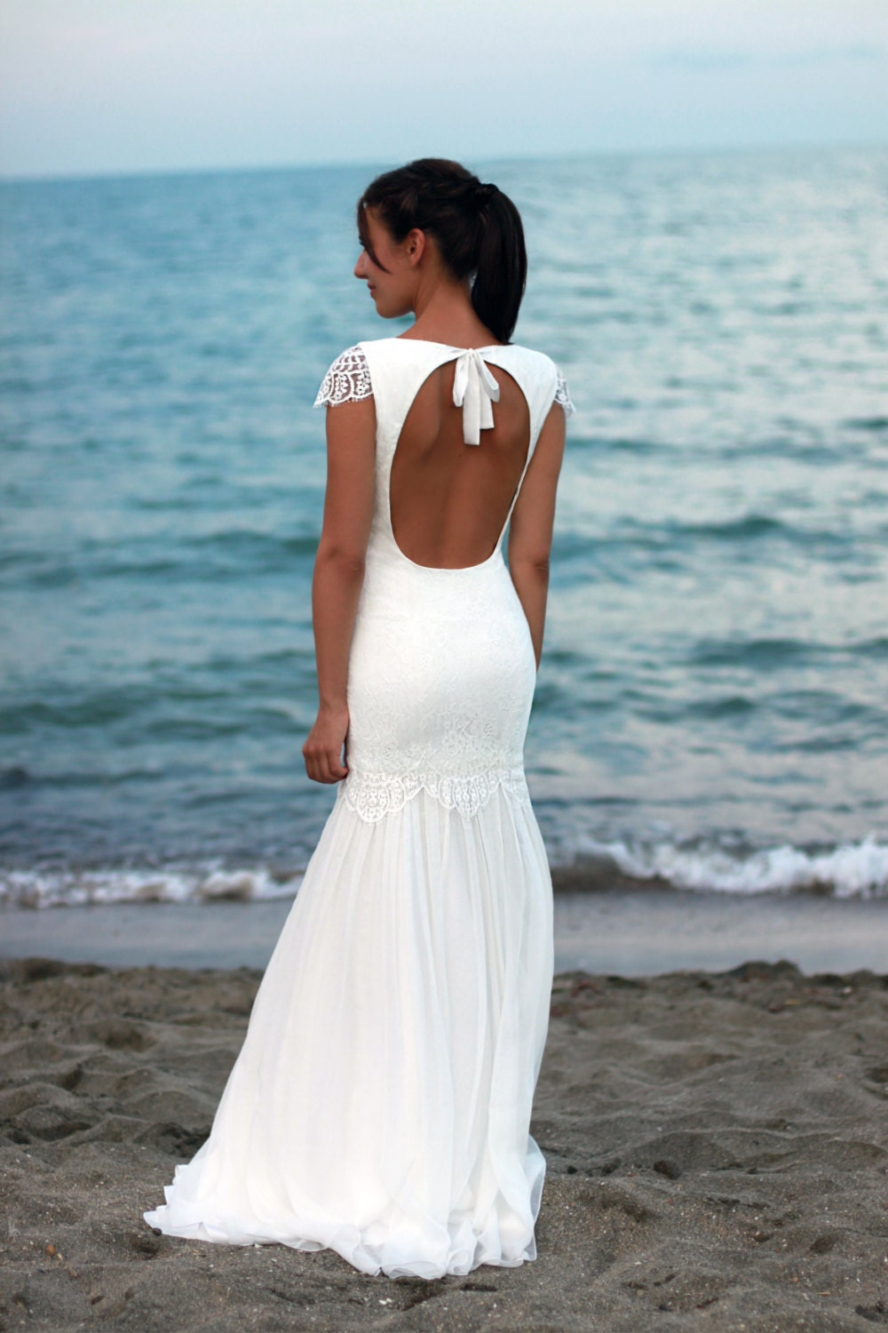 Bohemian Wedding Dress Beach Wedding Dress Lace Wedding