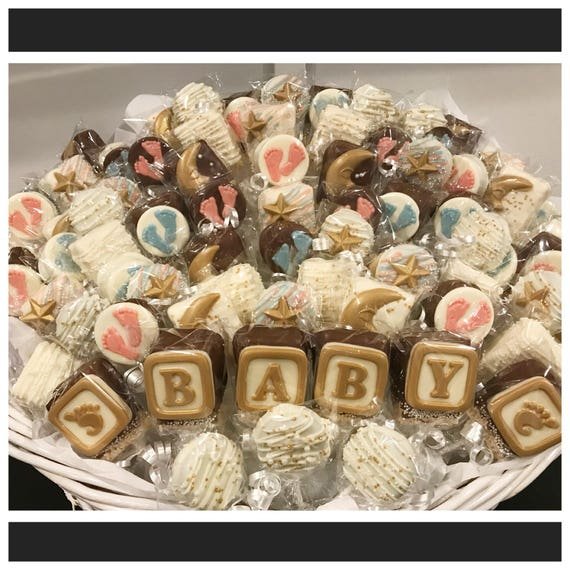 Baby baby shower chocolate basket commack pickup only negle Image collections
