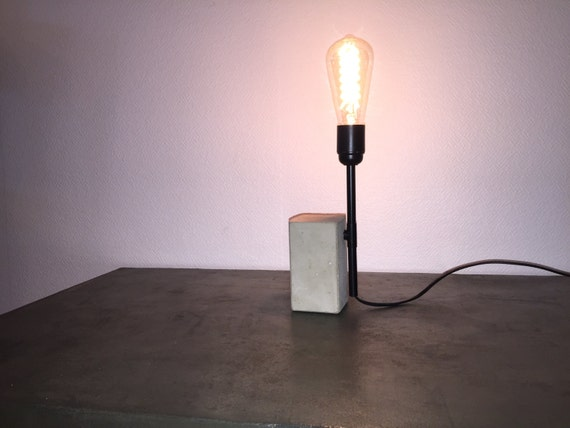 lampe en b ton et cuivre mod le brique. Black Bedroom Furniture Sets. Home Design Ideas