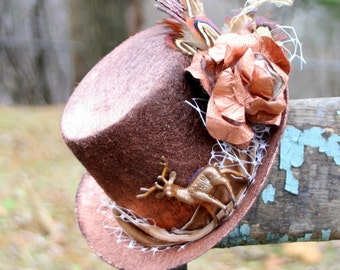 Copper Tophat, Deer and Woodlands Steampunk