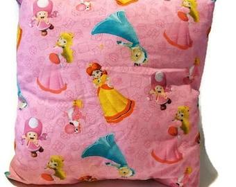 Mario Bros Princesses decorative stuffed pillow