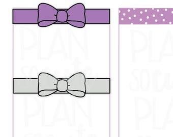 Doodle Bow Divider, Header Planner Stickers -105