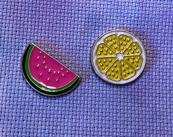 Summer Fruit Needle Minder Lemon Watermelon