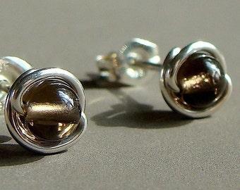 Smoky Quartz Studs Tiny 4mm Post Earrings in Sterling Silver Stud Earrings Quartz Studs