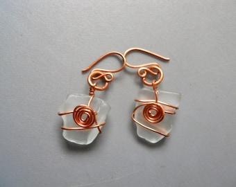 Wire copper beach glass   Etsy