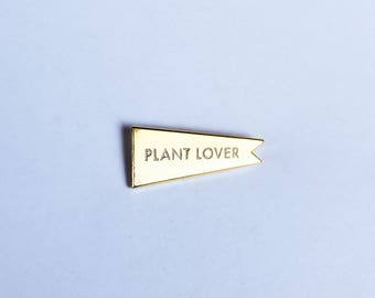 Plant Lover Pennant | Lapel Pin