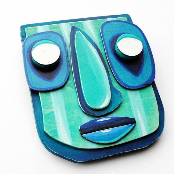 BLUEBER - Original Mixed Media Wall Sculpture