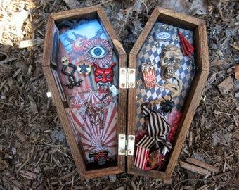 Dark Circus Miniature Coffin Shadow Box