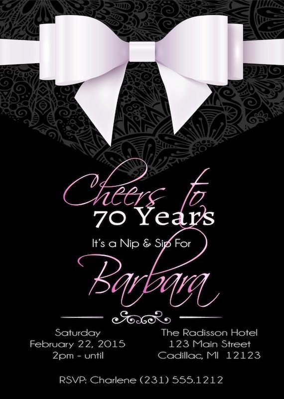 70th birthday invitation elegant 70th cheers to 70 years