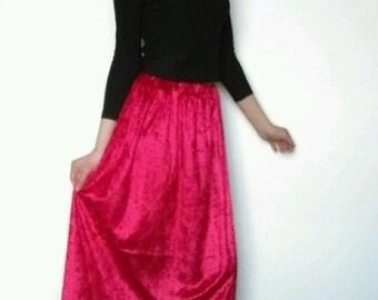 Velvet Guardian Skirt (Red)