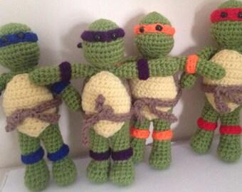 Crochet Ninja Turtles Pattern