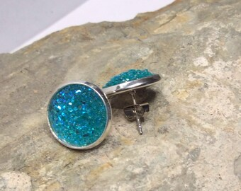 Earrings Druzy Turquoise