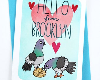 Hello from Brooklyn - Greeting Card