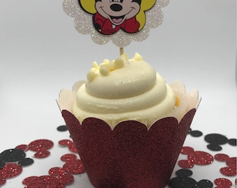 Minnie Mouse Cupcake Toppers - One Dozen