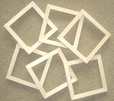 6 Unfinished 6x6 wood picture frames