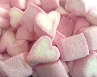 200 grams Heart Shaped Marshmallows ~ Wedding Favours ~ Candy Cart Sweets.