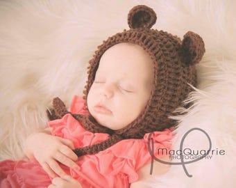 Crochet Teddy Bear Bonnet