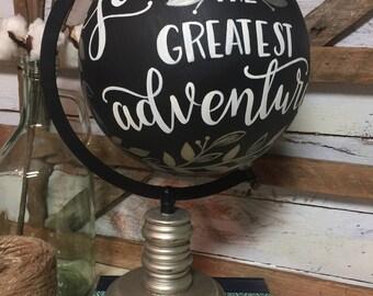 Love is the greatest adventure | Wedding Decor | Wedding Gift | Home Decor | World Globe