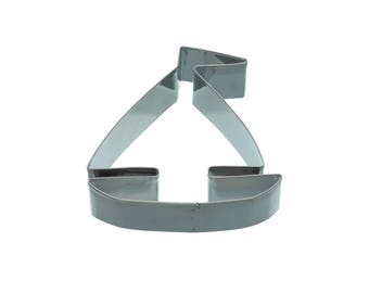 Cookie cutter cookie metal 8.5 cm - boat shaped sailboat