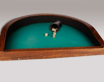 19th Century Rare Saloon Dice Table