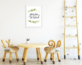 You Are So Loved VINES Decor Print