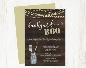 Printable Backyard BBQ Invitation Template