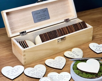 Wedding Guestbook - Wedding Guest Book Alternatives - Guestbook Sign - Personalised Custom Guest Book - Rustic Wedding Box - Unique Ideas