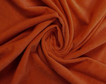 Orange Stretch Corduroy Fabric by the Yard - Style 2012